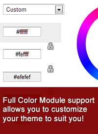 All themes can be colorized with Drupals color module