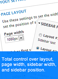 Full control over layout and width - page and sidebars